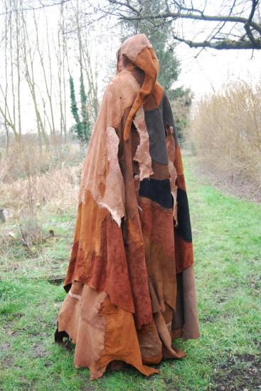 cape patchwork vue de dos